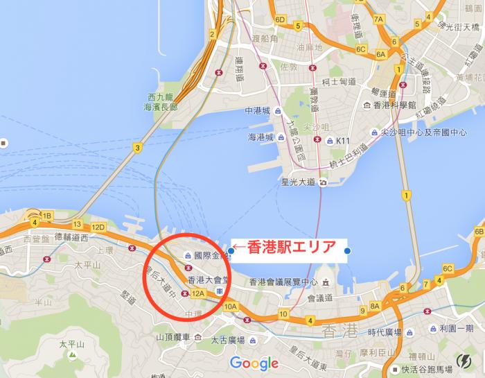 おすすめエリア1:香港駅周辺のホテル
