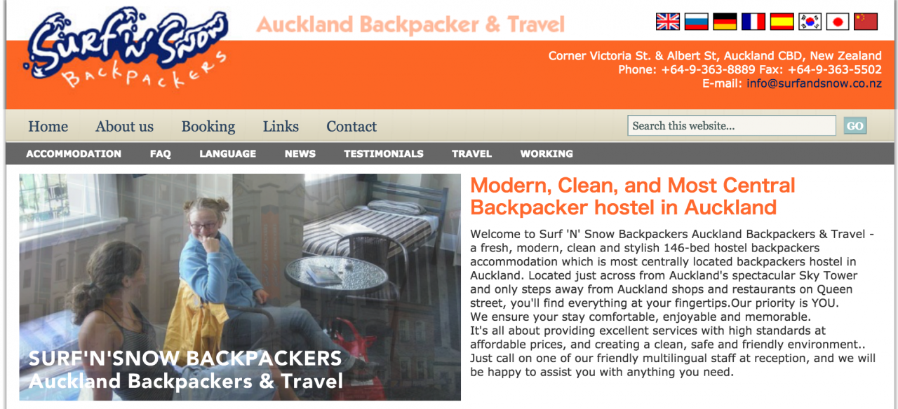 「Surf 'N' Snow Backpackers」102 Albert St, 1010 オークランド, ニュージーランド