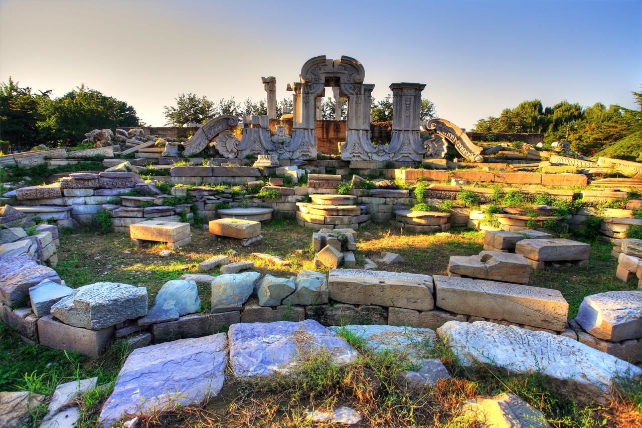 bigstock-Ancient-ruins-at-yuanmingyuan--16689041