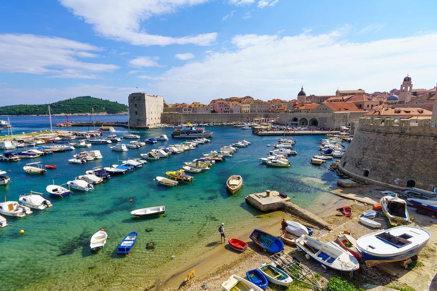 Beach Scene, Dubrovnik