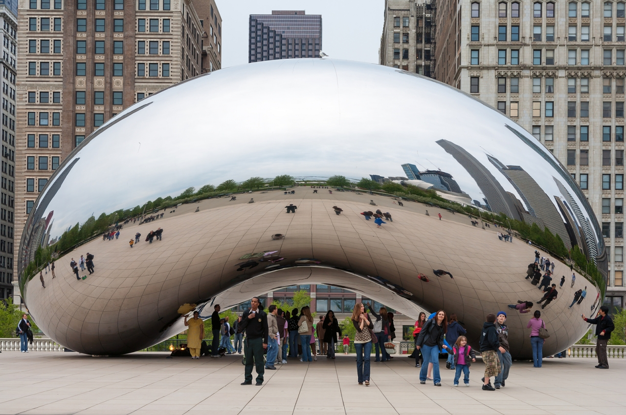 bigstock-Cloud-Gate-and-Chicago-skyline-84779627