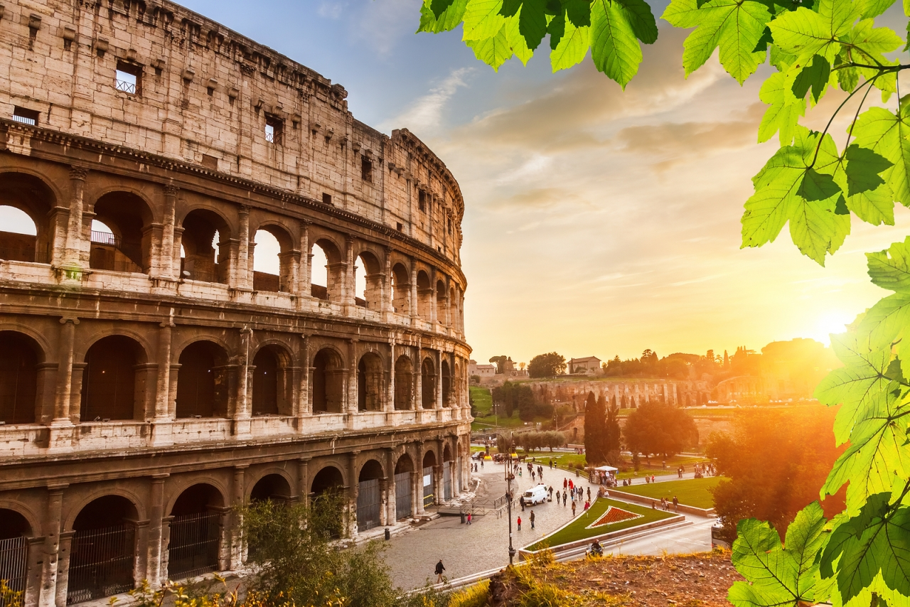 bigstock-Colosseum-at-sunset-in-Rome-I-85401743