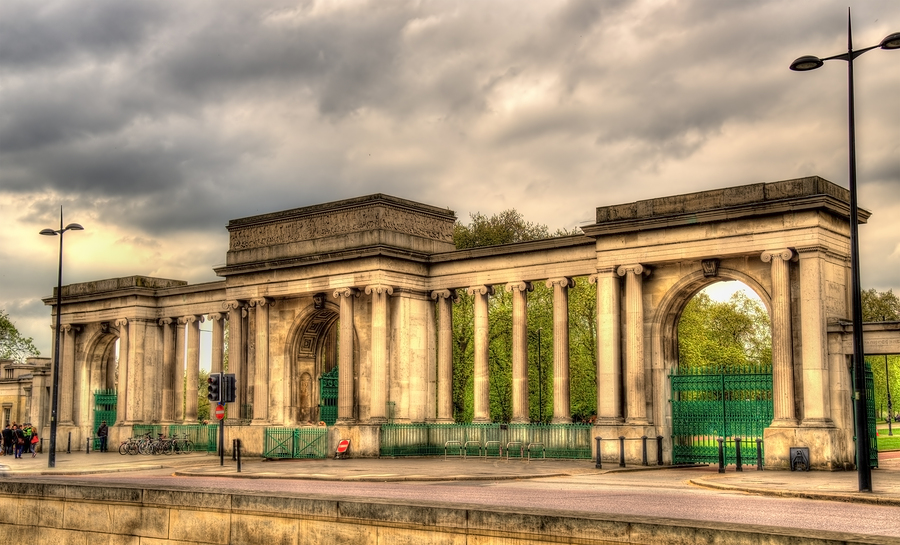 Gate Of Hyde Park In London - England