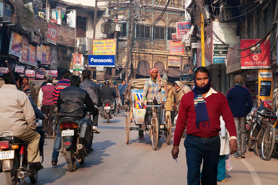 On The Street In Varanasi