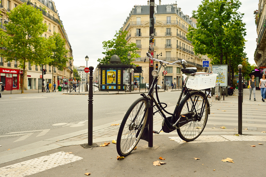 PARIS, FRANCE - AUGUST 09, 2015: streets of Paris. Paris, aka Ci