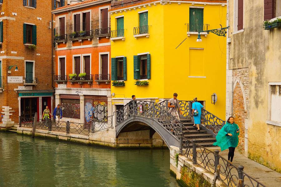 VENICE - SEP 12: Venice canal on September 12, 2014 in Venice, I