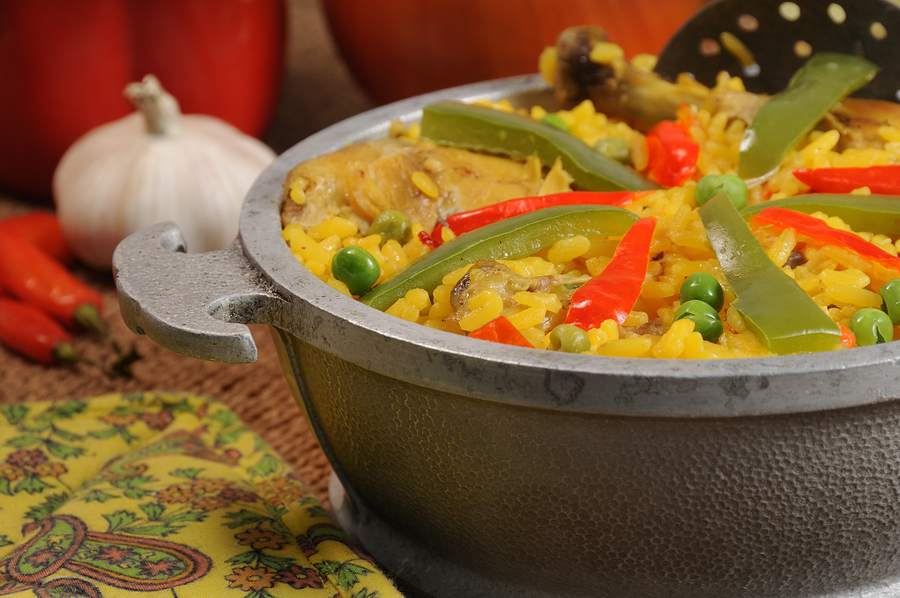 Cuban Dish - Salted Rice With Chicken