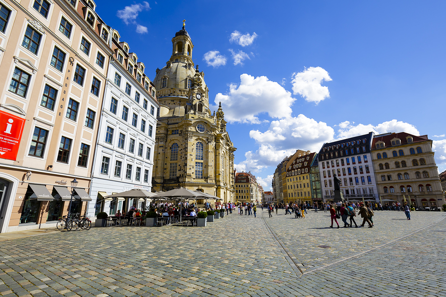 Dresden's New Market Square, General View