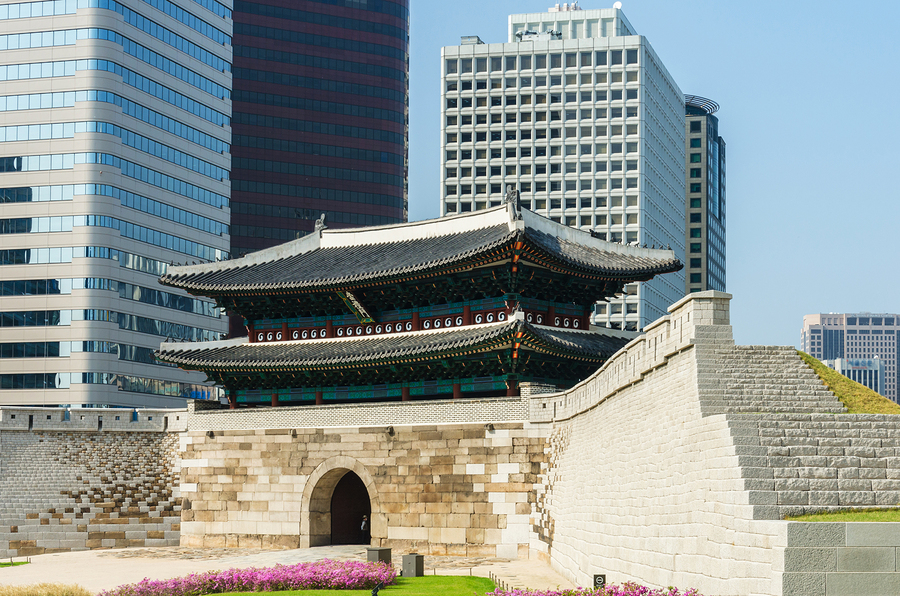 Namdaemun Gate In Seoul, South Korea.