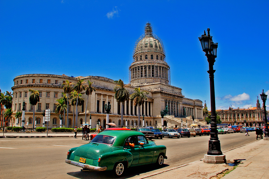 Old retro car in Havana,Cuba