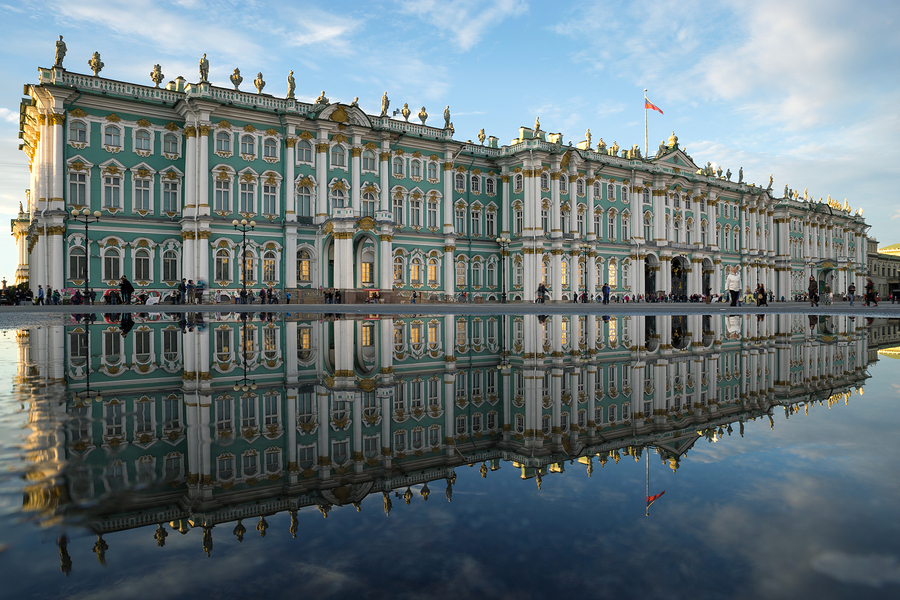 St. Petersburg. Winter Palace. The State Hermitage Museum. Refle