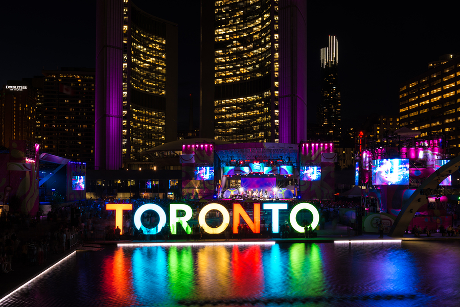 Toronto: Panamania In Nathan Phillips Square During Pan Am Games