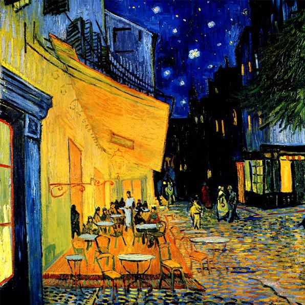 「夜のカフェ」