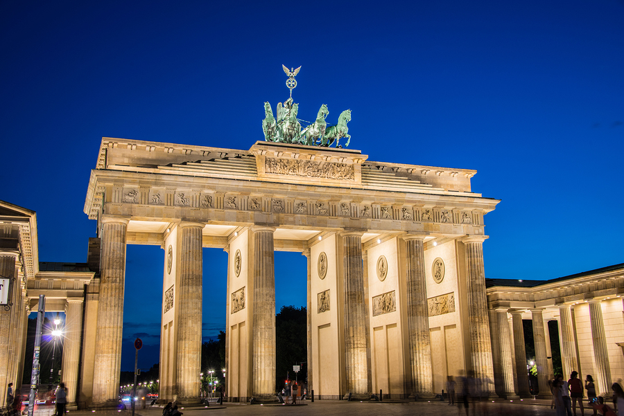 Berlin - AUGUST 4, 2013: Brandenburg Gate on August 4 in Germany