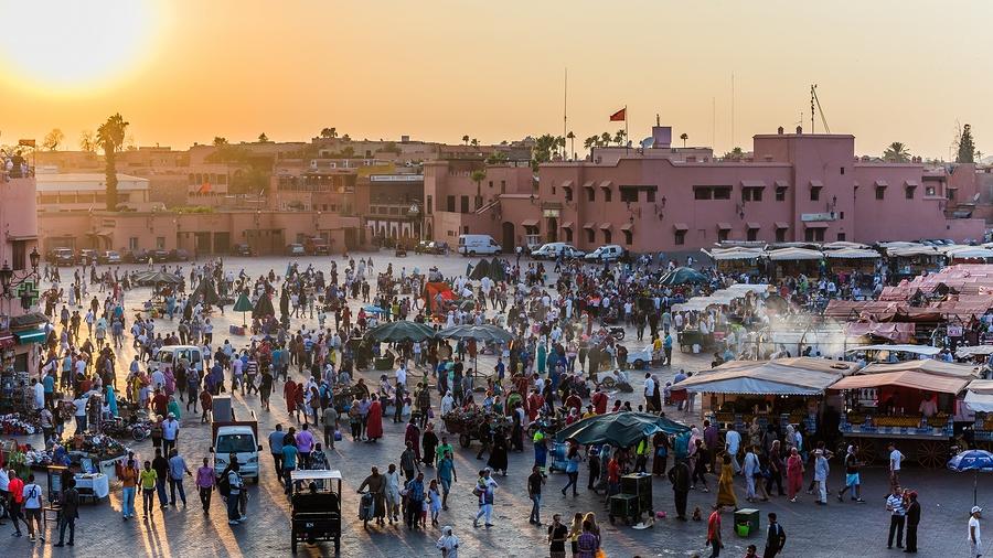 Marrakech, Morocco - Circa September 2015 - Marrakechs Central P