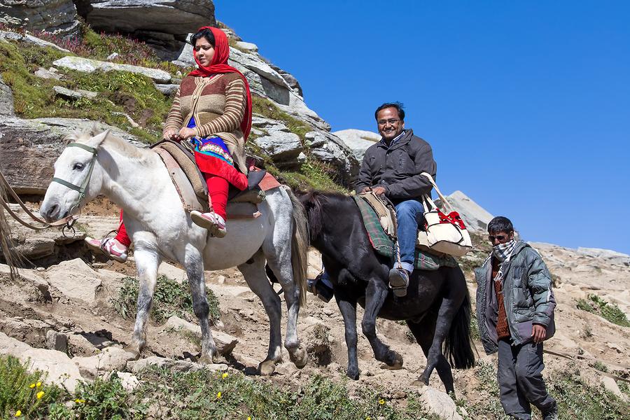 Tourists Having Fun On The Rohtang Pass, Himachal Pradesh, India