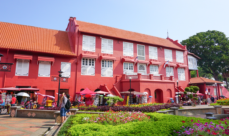 View Of Dutch Square In Malacca