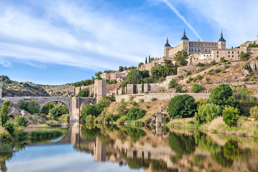 Puente De Alcantara And Alcazar De Toledo