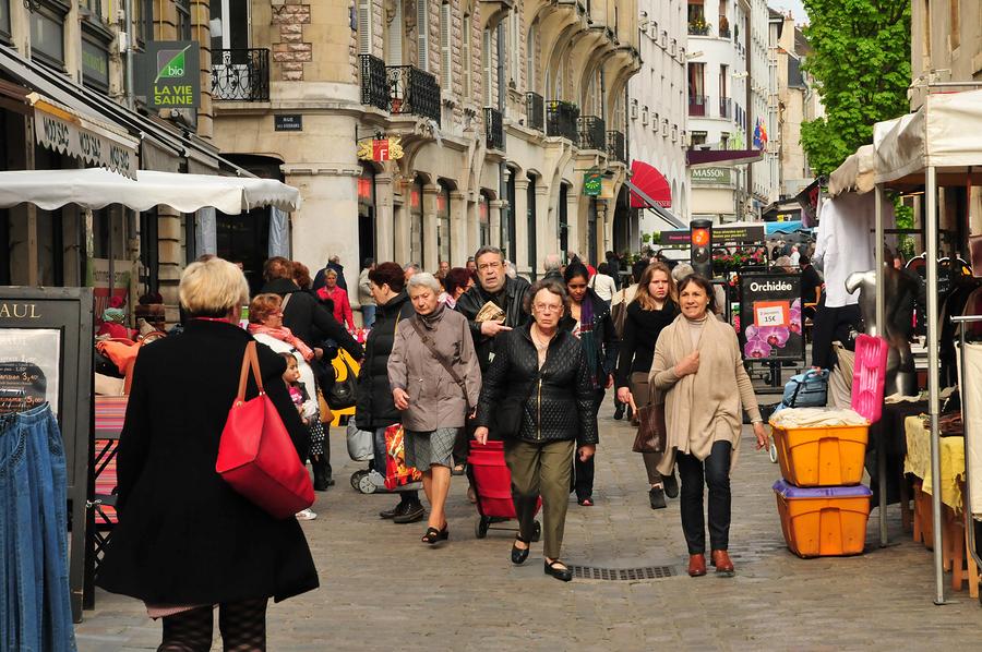 Dijon France - april 22 2016 : the market in Halles Centrales