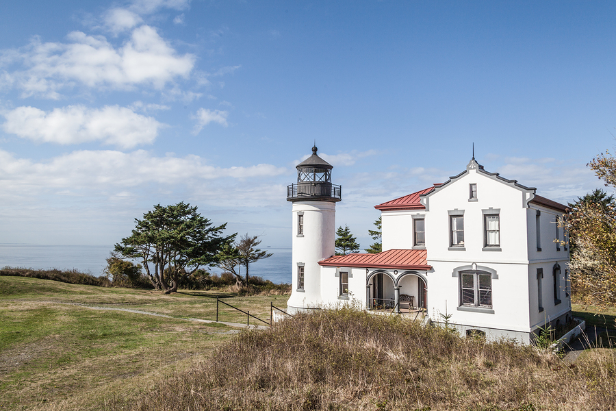 Admiralty Head Lighthouse, located in Fort Casey State Park near Coupeville, Whidbey Island, Washington