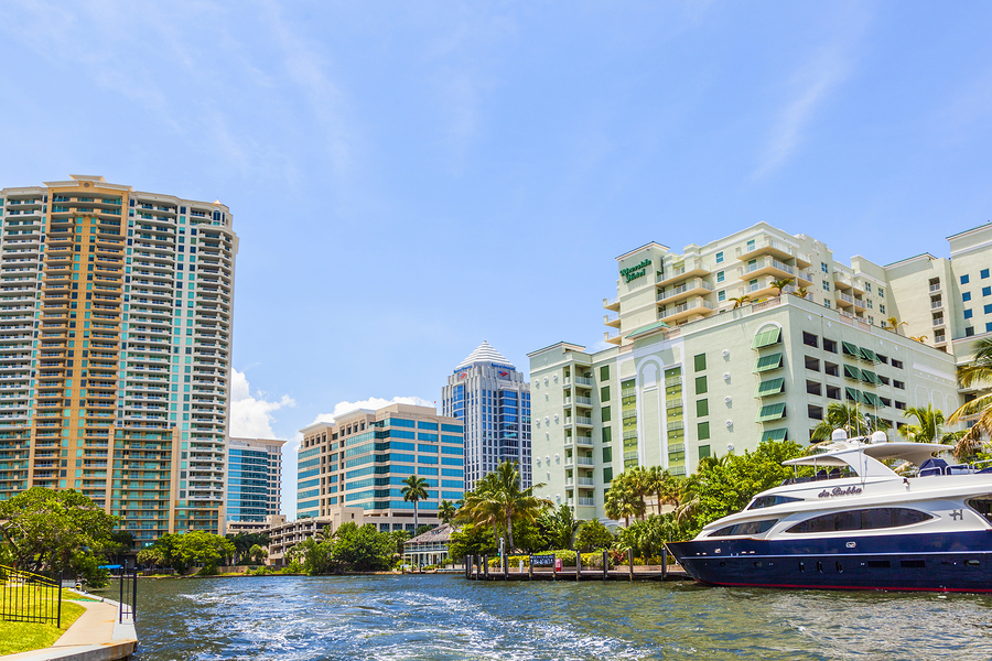 Boats At Waterfront Homes In Fort Lauderdale