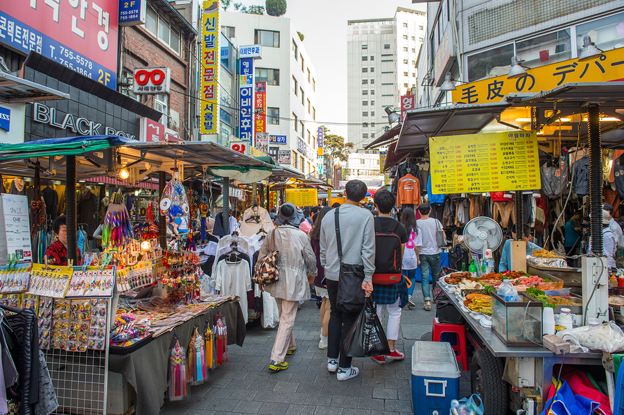 Namdaemun Market in Seoul is the oldest and largest market in So