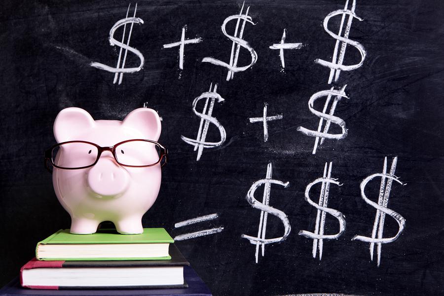 Piggy Bank With Blackboard Formula
