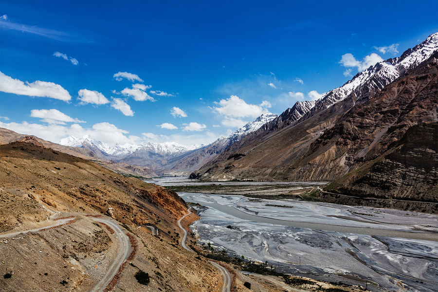Travel Himalayas background - Spiti Valley in Himalayas. Himacha